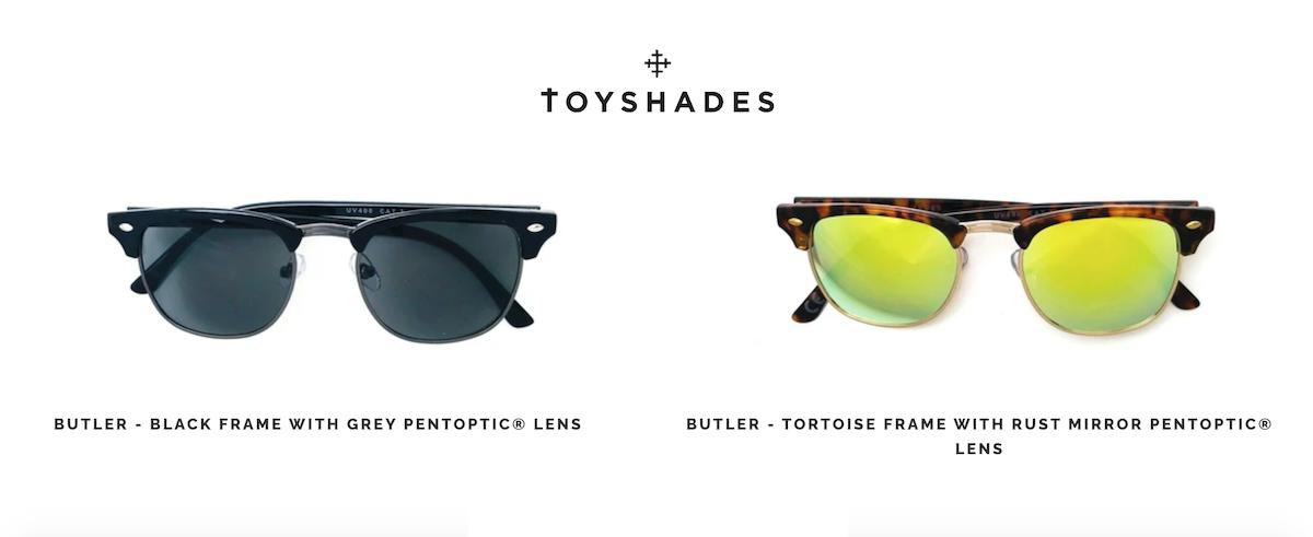 lunettes de soleil Butler pour la plage de la marque Toyshades